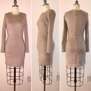 Bebe Suede Brown Bodycon Dress